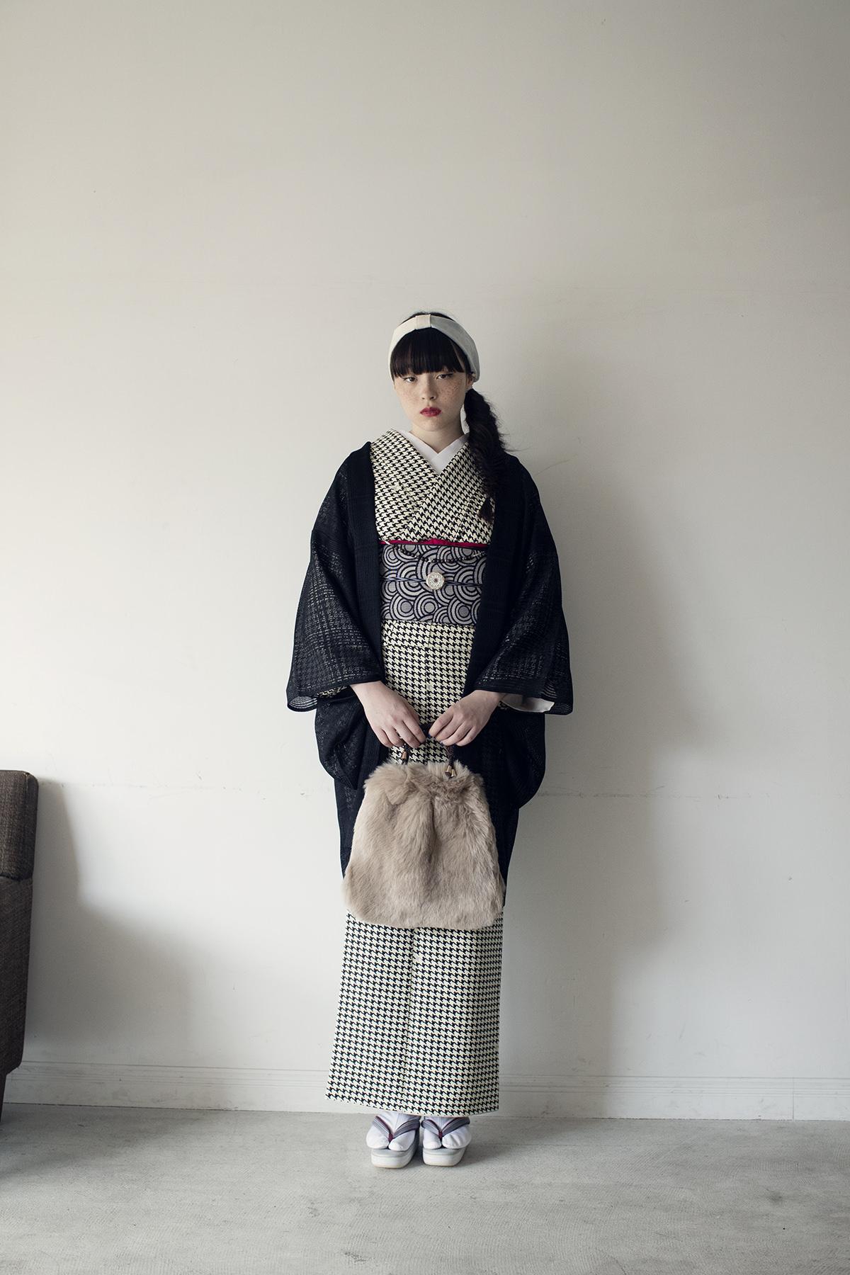 きもの:NADESHIKO BASICきもの / 千鳥・black / ポリエステル